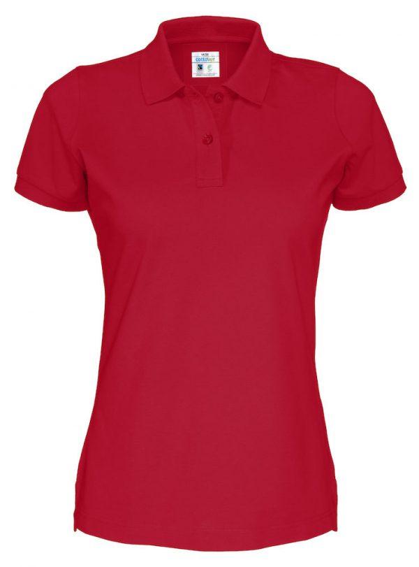 Polo met korte mouwen - rood - dames