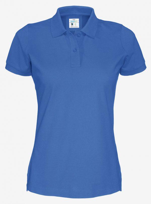 Polo met korte mouwen - koningsblauw - dames