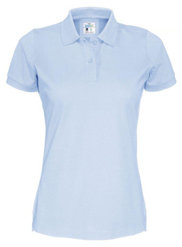 Polo met korte mouwen - licht blauw - dames