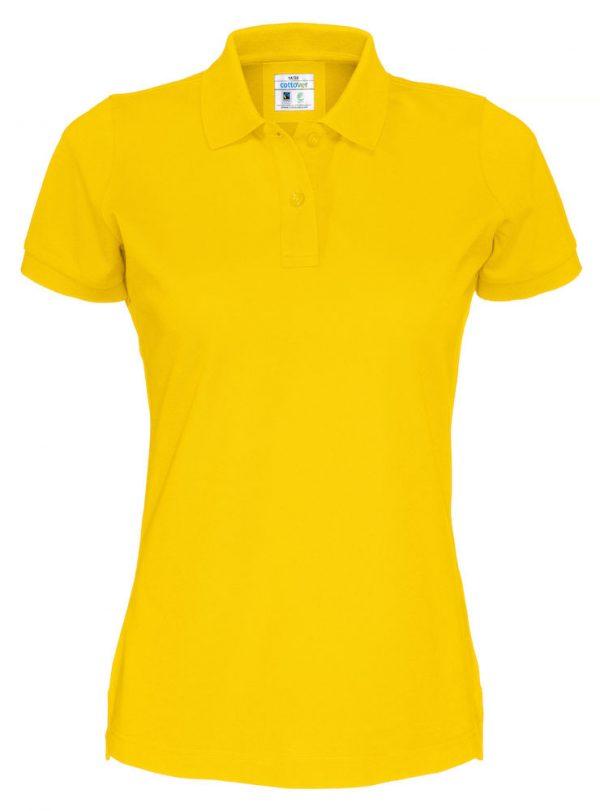 Polo met korte mouwen - geel - dames