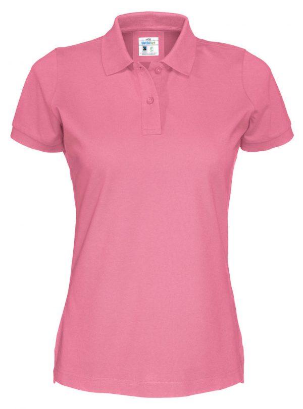 Polo met korte mouwen - roze - dames