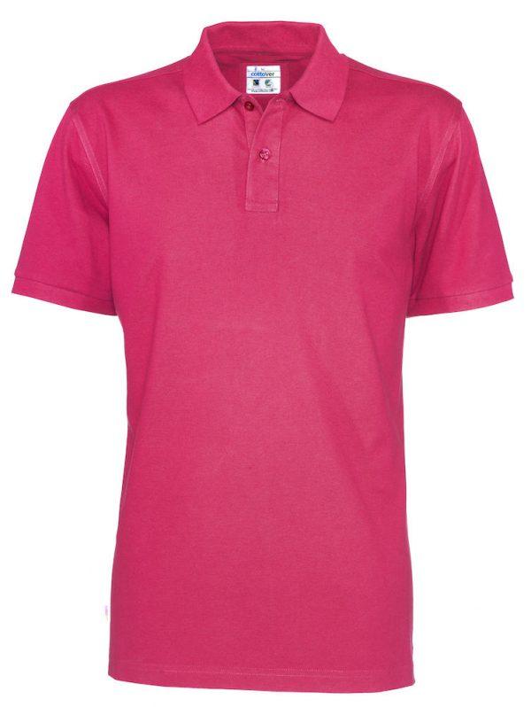 Polo met korte mouwen - donker roze - heren