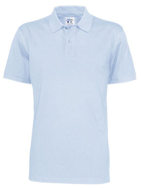 Polo met korte mouwen - licht blauw - heren