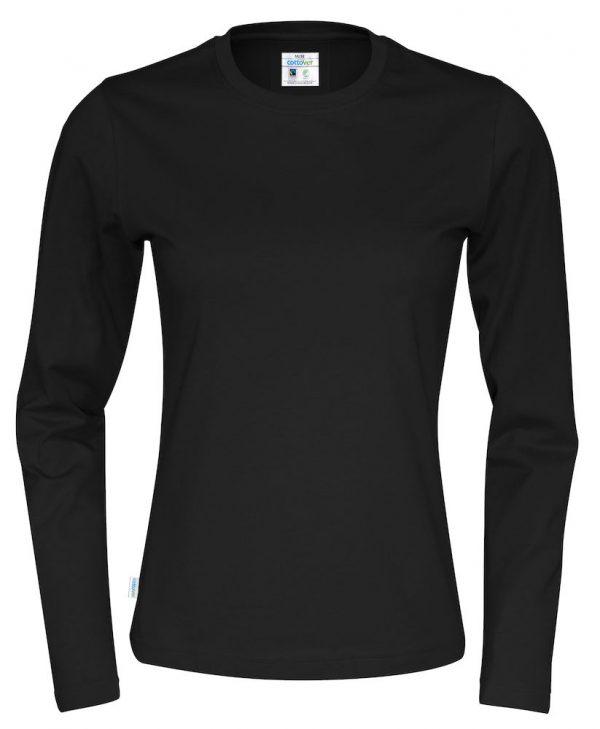 T-shirt met lange mouwen - zwart - dames