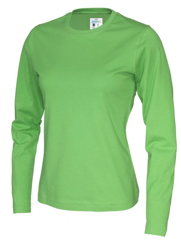 T-shirt met lange mouwen - groen - dames