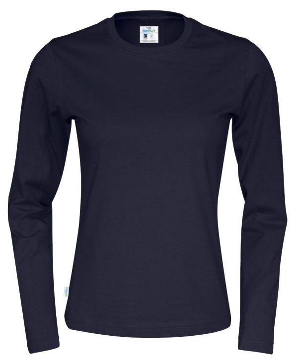 T-shirt met lange mouwen - navy - dames