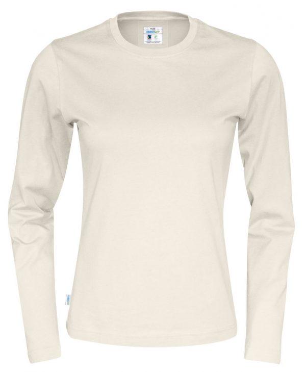T-shirt met lange mouwen - gebroken wit - dames