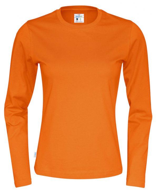 T-shirt met lange mouwen - oranje - dames