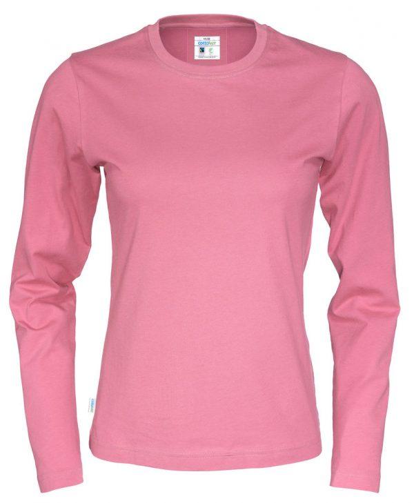 T-shirt met lange mouwen - roze - dames