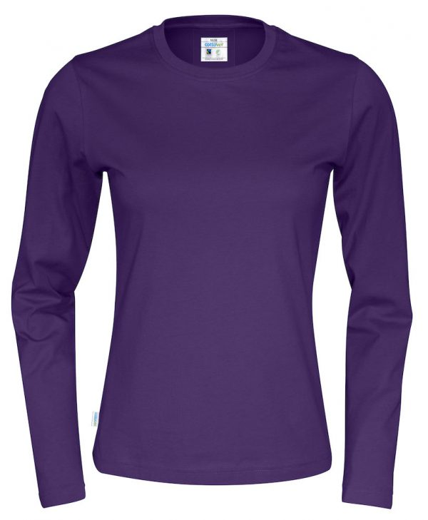 T-shirt met lange mouwen - paars - dames