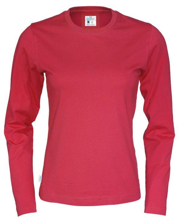 T-shirt met lange mouwen - rood - dames