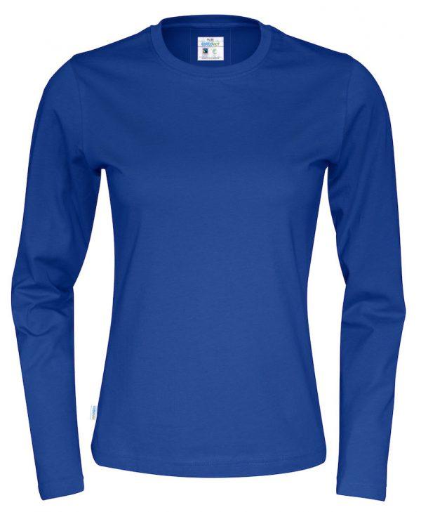 T-shirt met lange mouwen - koningsblauw - dames