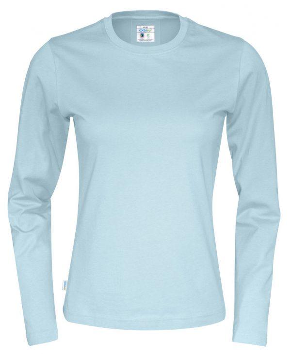 T-shirt met lange mouwen - licht blauw - dames
