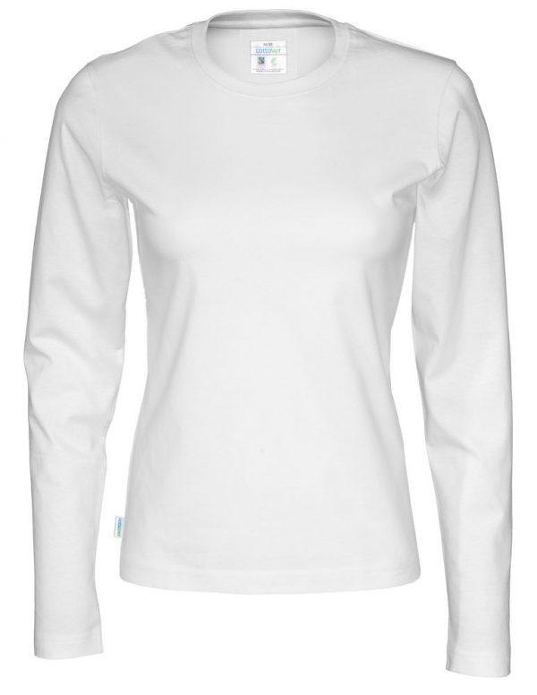 t-shirt met lange mouwen - wit - dames