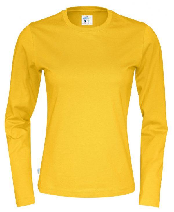 T-shirt met lange mouwen - geel - dames