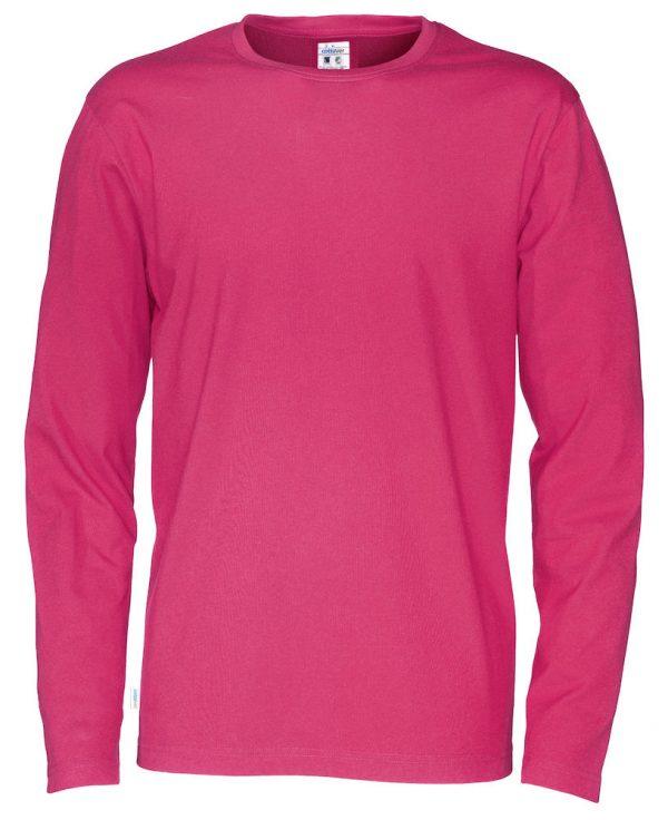T-shirt met lange mouwen - donker roze - heren
