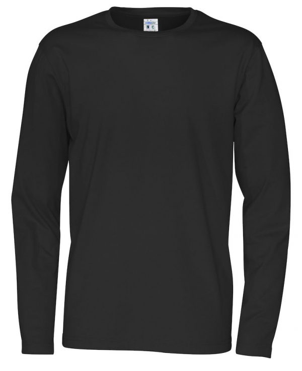 T-shirt met lange mouwen - zwart - heren