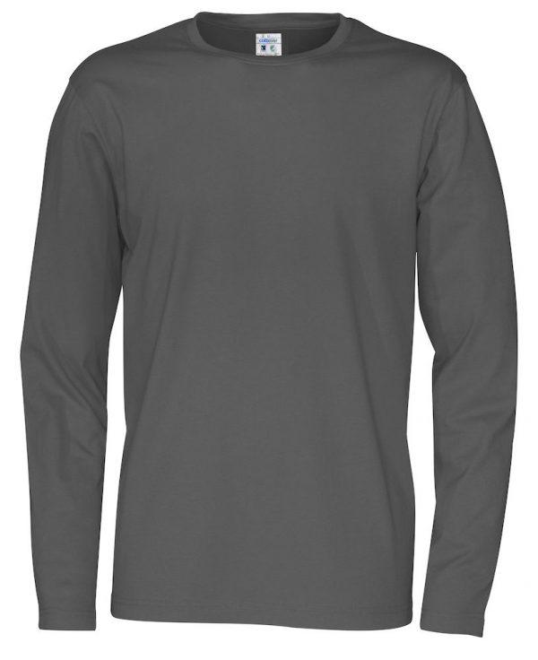 T-shirt met lange mouwen - grijs - heren