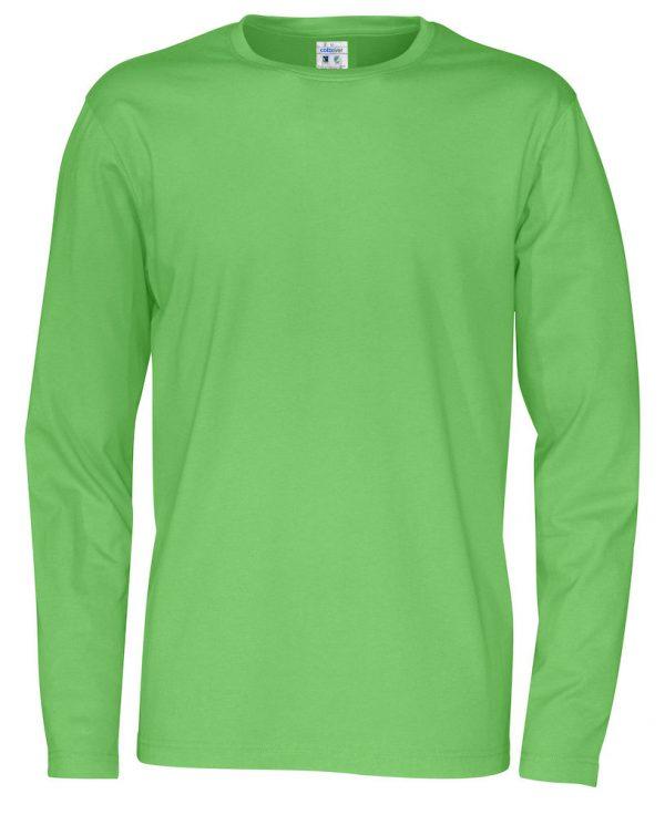 T-shirt met lange mouwen - groen - heren