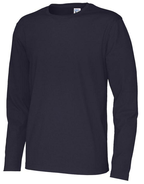 T-shirt met lange mouwen - navy - heren
