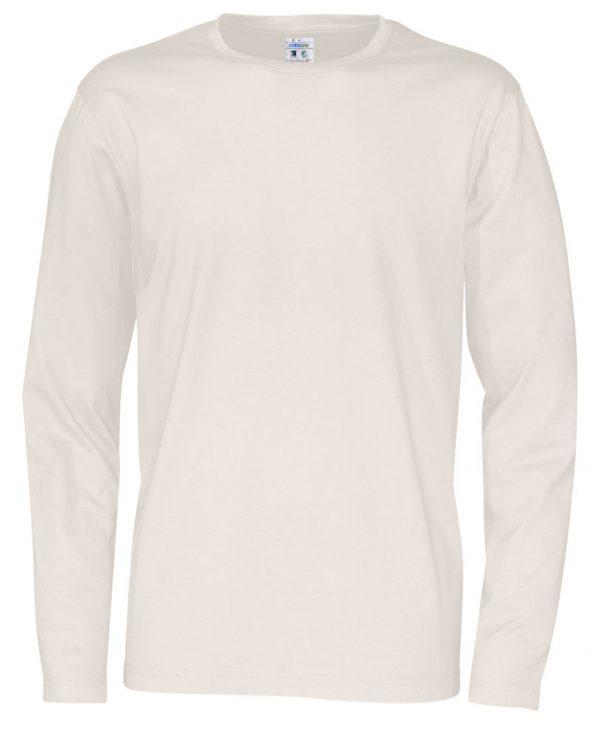 T-shirt met lange mouwen - gebroken wit - heren