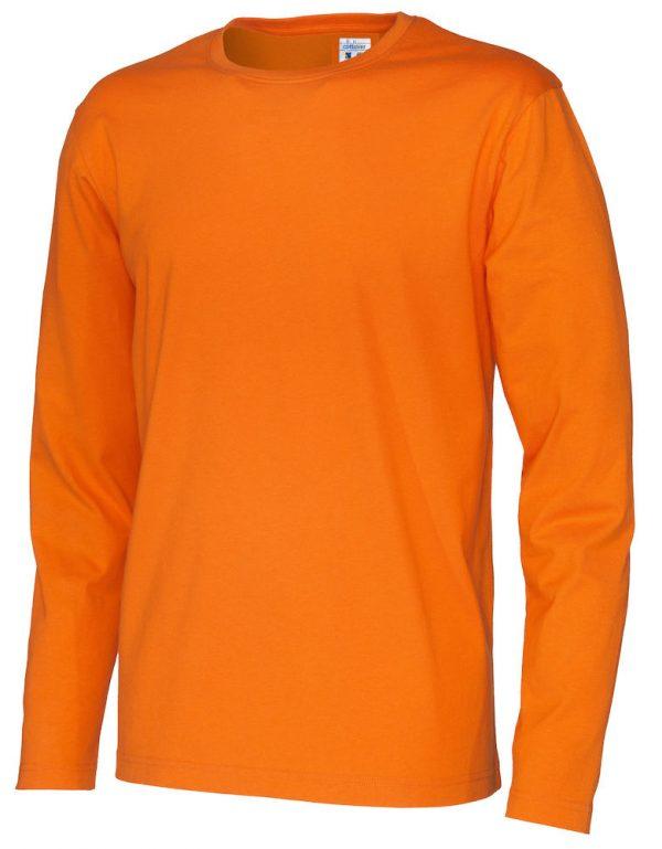 T-shirt met lange mouwen - oranje - heren