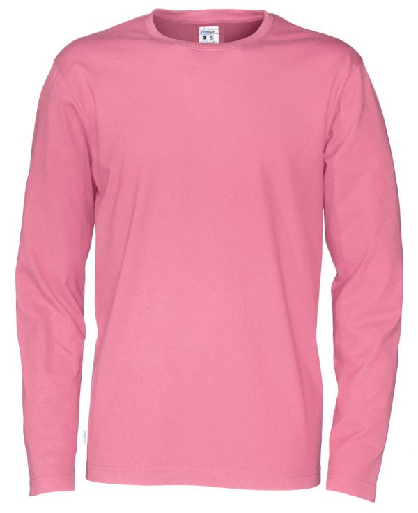 T-shirt met lange mouwen - roze - heren