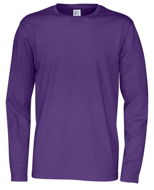 T-shirt met lange mouwen - paars - heren