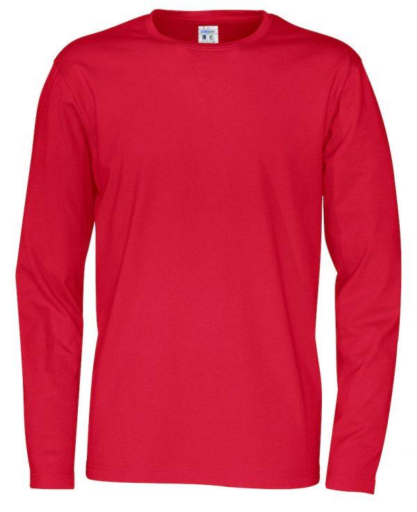 t-shirt met lange mouwen - rood - heren