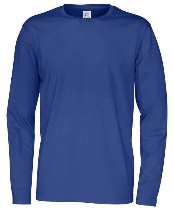 t-shirt met lange mouwen - koningsblauw - heren