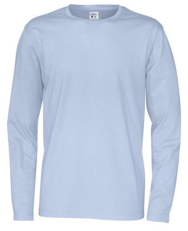 t-shirt met lange mouwen - licht blauw - heren