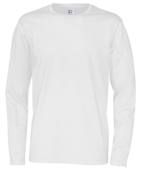 T-shirt met lange mouwen - wit - heren